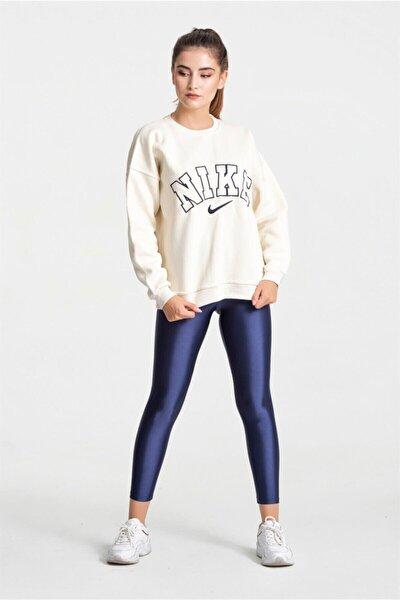 Kadın Krem Nike Yazılı Sweatshirt