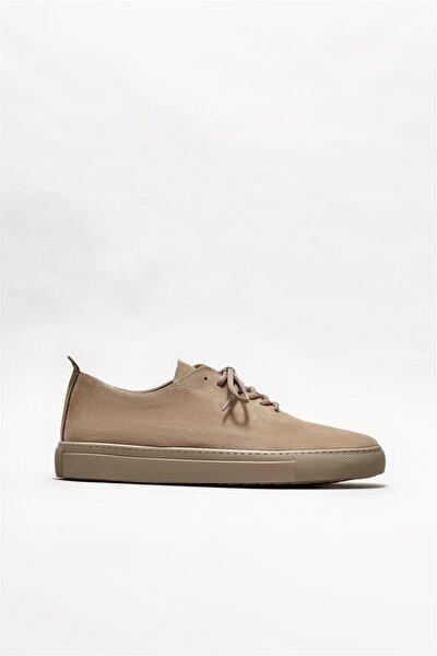 Erkek Vizon Deri Günlük Ayakkabı