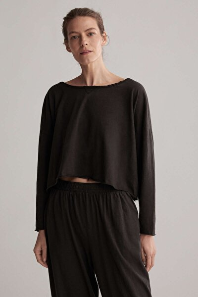 Kadın Antrasit Flame Pamuklu Sweatshirt