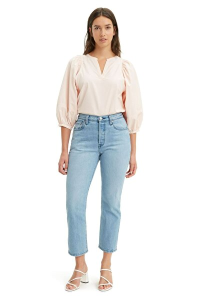 Kadın Light İndigo Crop Tango Acid Jeans 501