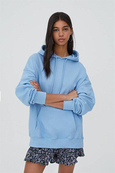 Kapüşonlu Oversize Sweatshirt