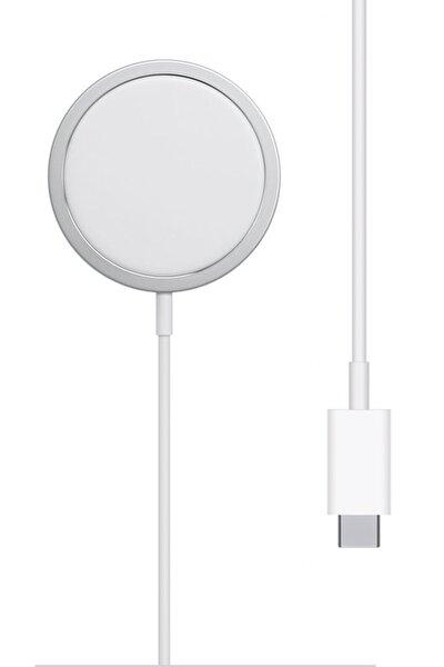 Iphone 11 12 Pro Uyumlu  Kablosuz Şarj Cihazı 15w Hızlı Şarj Manyetik Çekim Charger Type-c Kablo