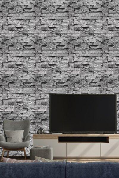 9360 Gri Taş Desen Duvar Kağıdı 5,30 M²