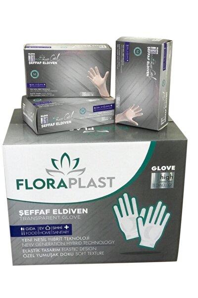 Glove M Beden Tpe/pe Pudrasız Tek Kullanımlık Şeffaf Elastik Eldiven 100 Adet