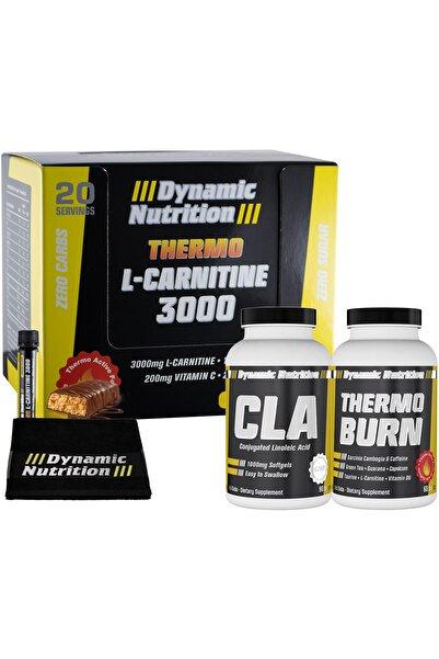 Dynamic Thermo L-Carnitine 3000 mg 20 Ampul + CLA 90 Kapsül + Thermo Burn 60 Tablet + 3 HEDİYE