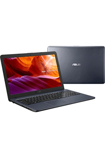 "F543m (GQ1243T) 15.6"" Intel Celeron 4 128gb (WİNDOWS 10) Notebook (KOYU GRİ)"