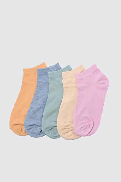 Yeşil 5'li Paket Örme Çorap TWOSS21CO0014