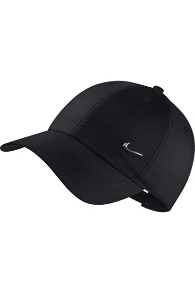 Unisex Siyah Metal Swoosh Ayarlanabilir Şapka 943092-010