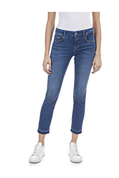 Kadın Mavi Power Streç Denim Pantolon