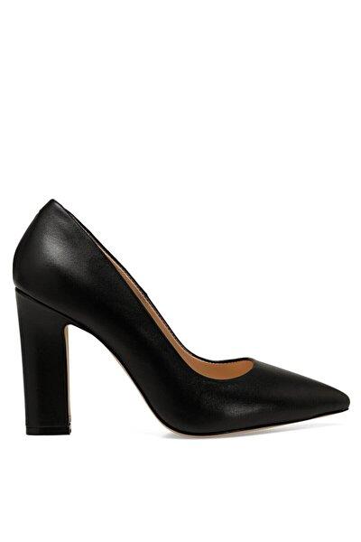 MANILA Siyah Kadın Hakiki Deri Topuklu Ayakkabı 100582010