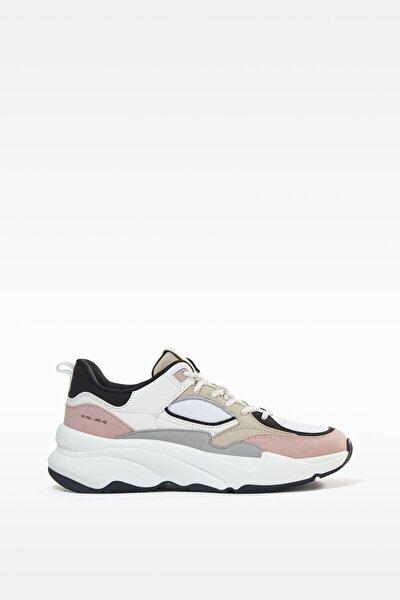 Fileli Kontrast Spor Ayakkabı
