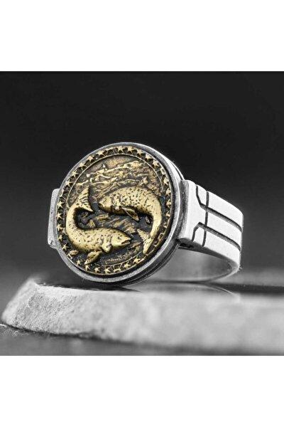 Balık Burcu Yüzük Gümüş 925 Ayar