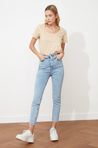 Açık Mavi Yüksek Bel Skinny Jeans TWOSS21JE0009