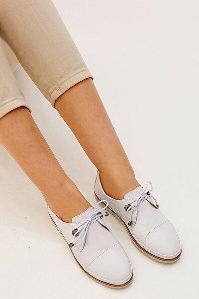 Demas Kadın Hakiki Deri Comfort Ayakkabıbeyaz