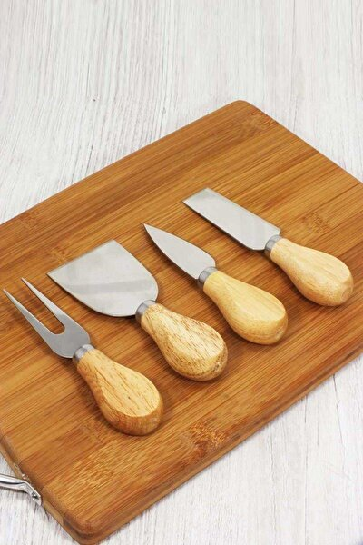 4'lü Ahşap Saplı Mini Peynir Bıçağı