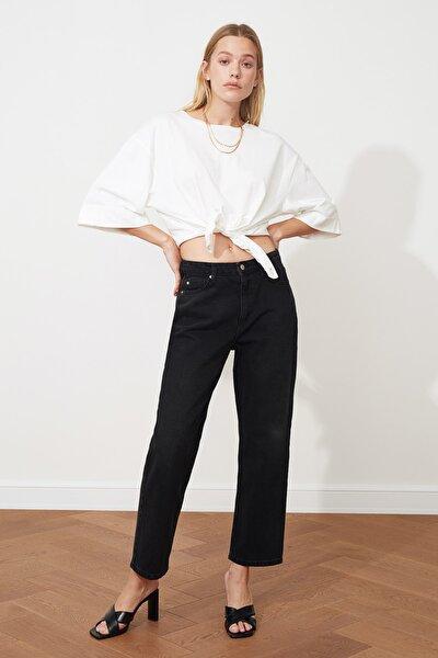 Siyah Yüksek Bel Dad Jeans TWOSS20JE0165