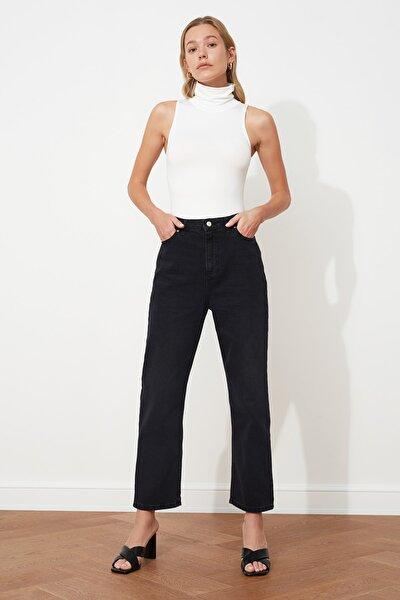Siyah Yüksek Bel Straight Jeans TWOSS20JE0166