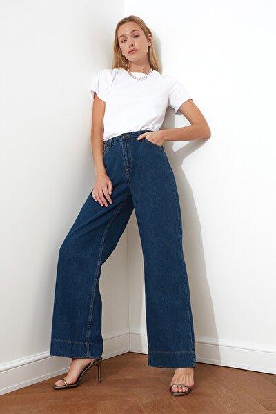 Mavi Paça Detaylı Yüksek Bel Wide Leg Jeans TWOSS20JE0148