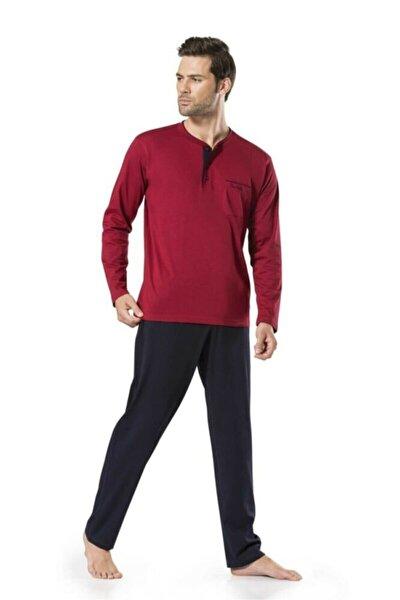 Erkek Bordo Damat Çeyizlik Pijama Takımı