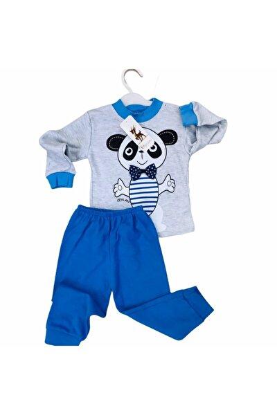 Erkek Çocuk Gri Baskılı Pijama Takımı