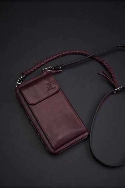 Kadın Telefon Bölmeli Omuz Çanta Ve Cüzdanı