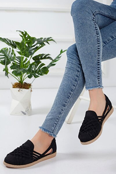 Motriz Babet Ayakkabı Siyah Süet
