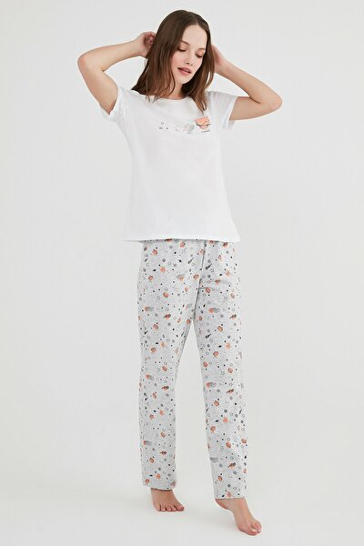 Çok Renkli Galaxy Ss Pijama Takımı