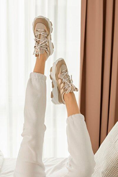 Bej Taban Spor Ayakkabı
