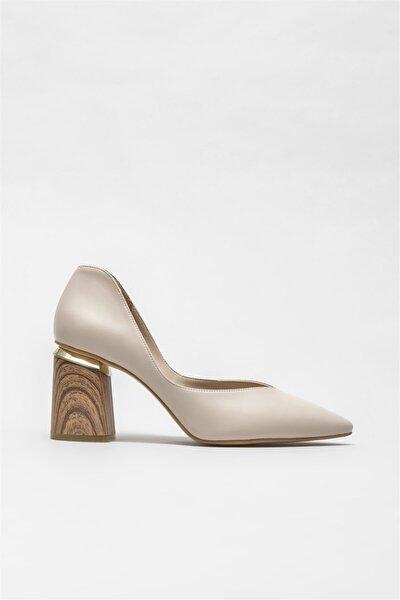 Ekru Kadın Topuklu Ayakkabı