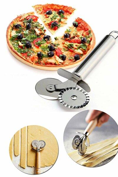 Hamur, Pizza, Börek Kesme Bıçağı Çift Başlıklı