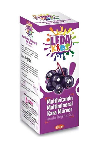 Unisex Kara Mürver Ekstresi C Vitamini Ve Çinko Leda Kids