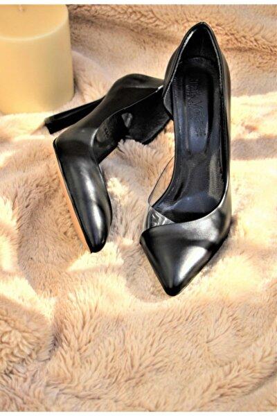 Kadın Siyah Klasik Topuklu Stiletto