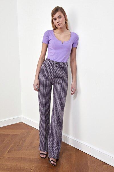 Çok Renkli Flare Örme Pantolon TWOAW21PL0479