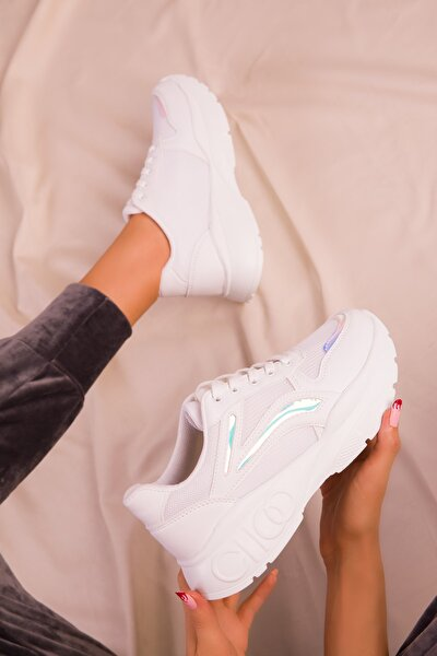 Beyaz-Neon Kadın Sneaker 15858