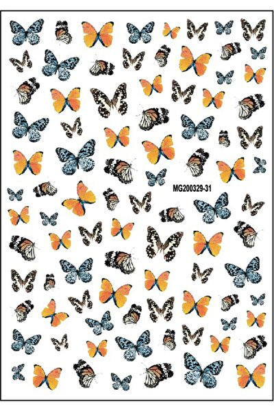 Renkli Kelebek Tırnak Sticker