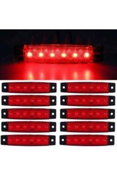 Dorse Parmak Lamba 12 -24 Volt 6 Ledli (kırmızı Renk) 10 Adet Parmak Led Dorse Kamyon Led Lamba