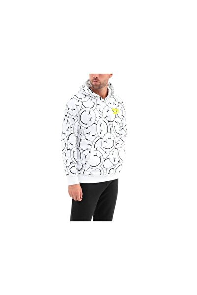 Erkek Club Aop Hoodie Smile White Sweatshirt 1930255
