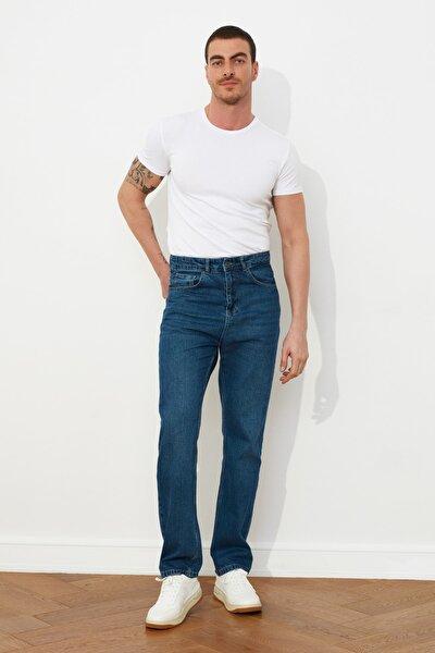 Lacivert Erkek Straight Fit Jeans TMNSS21JE0049