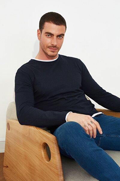 Lacivert Erkek Slim Fit T-Shirt TMNSS21TS0814