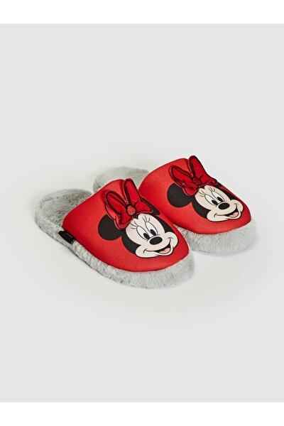 Kadın Kırmızı Minnie Mouse Ev Terliği
