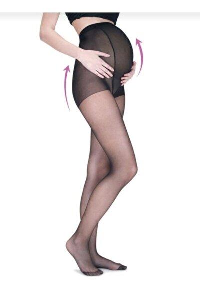 Kadın Siyah Fit 15 Hamile Külotlu Çorap