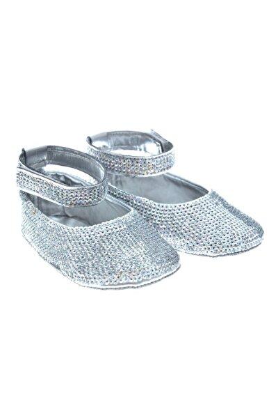 Kız Bebek Gümüş Patik Ayakkabı Sequın002