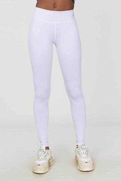 Beyaz Kadın Tayt Es-4229