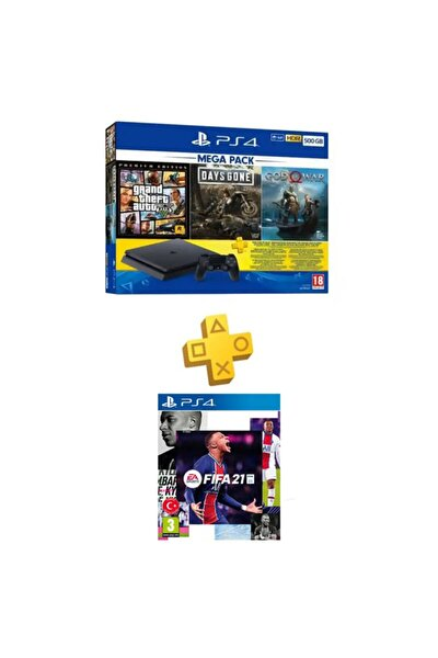 Ps4 Slim 500 Gb + Gta V + Days Gone + God Of War + Psn + Ps4 Fifa 21 (eurasia Garantili)