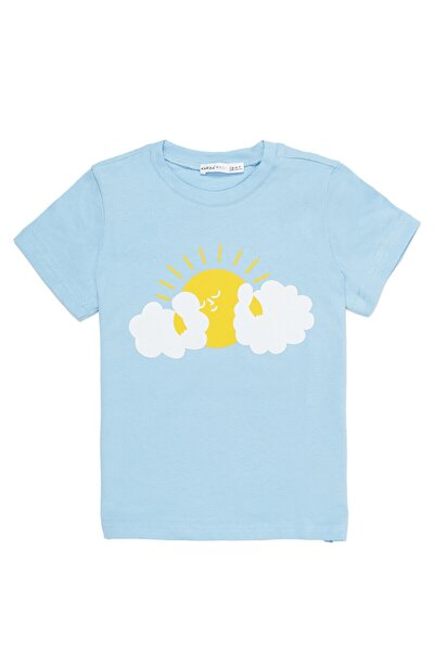Erkek Çocuk Bulut Mavi Tshirt