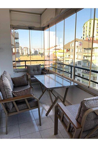 2+1+1+masa Demonte Bahçe Balkon Mobilyası