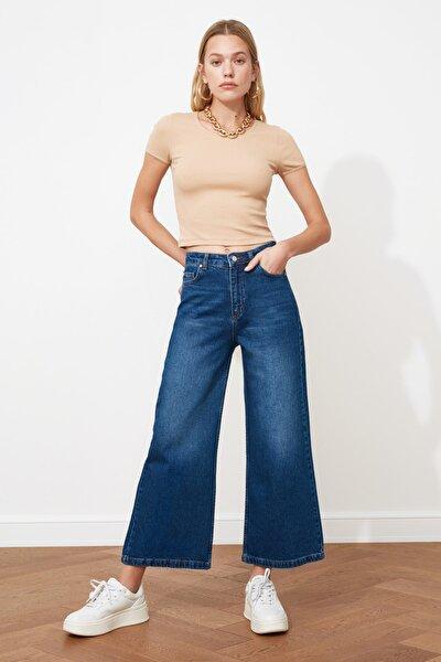 Lacivert Yüksek Bel Culotte Jeans TWOSS21JE0023