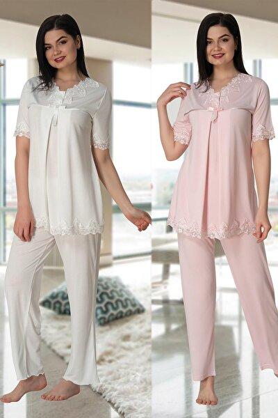 Kısa Kol Lohusa Pijama Takım Effort 5032