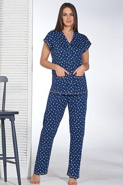 Kadın Düğmeli Pijama Takım