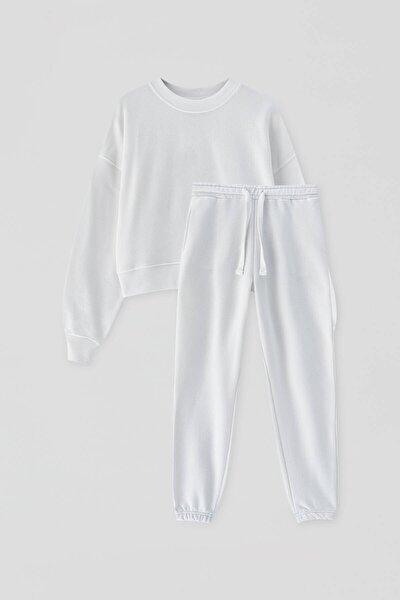 Kadın Buz Rengi Sweatshirt Ve Eşofman Altı Seti 04591417